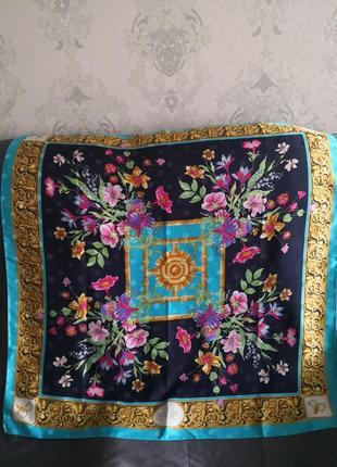 Шикарный  винтажный шелковый платок basile, италия
