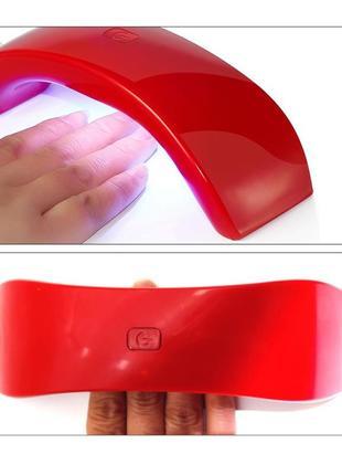 Лампа led лед для гель лака сушка гель лака для ногтей маникюра