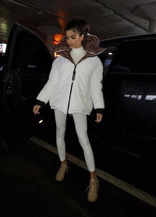 Женская двухсторонняя куртка пуховик