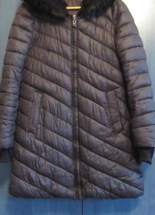 Куртка пальто еврозима черная для беременных