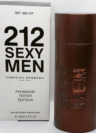 Carolina herrera 212 sexy men туалетная вода, тестер