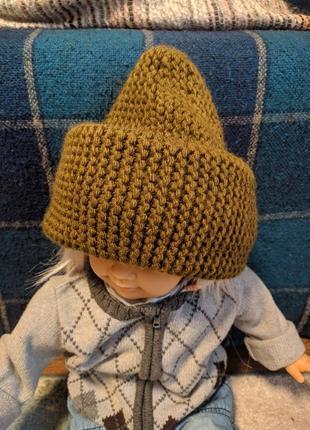 Новая объёмная шапка хаки
