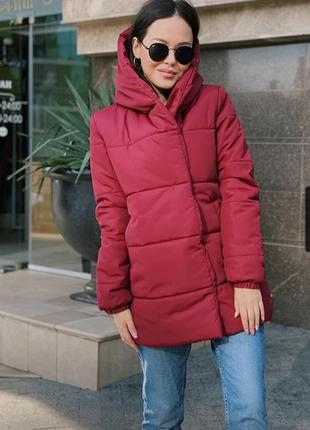 Очень класная и теплая куртка зефирка бордо !!!