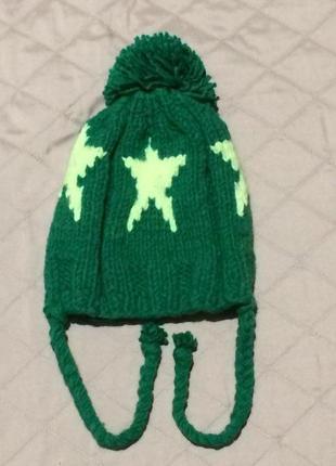 Детская красивая вязаная шапочка  (рождественские скидки)