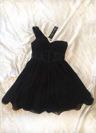 Пышное мини платье черное little mistress, фатин