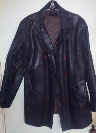 Скидка до 22го из-за карантина бушлат кожаный двубортный куртка мужская размер52