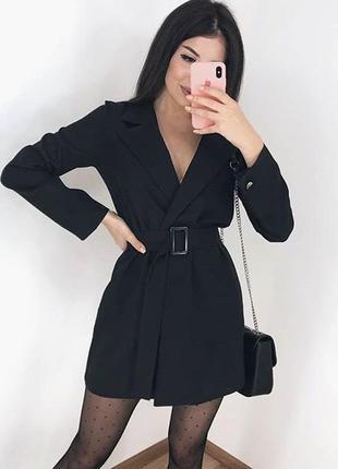 Новое чёрное платье пиджак на запах