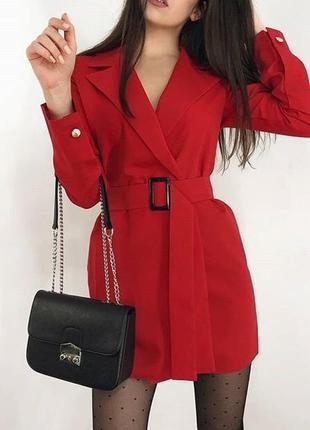 Новое красное пиджак платье на запах