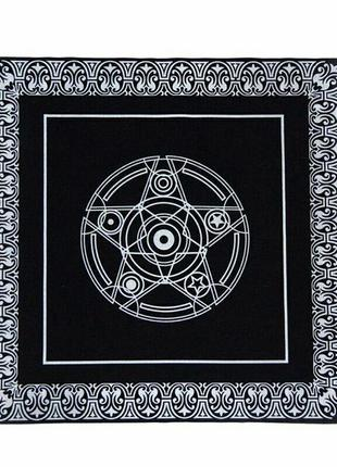 Квадратная скатерть домашний декор с принтом гадание астрология пентакль