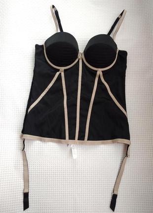 Роскошный шелковый боди - корсет с подтяжками для чулок бренда verdissima 80в/c
