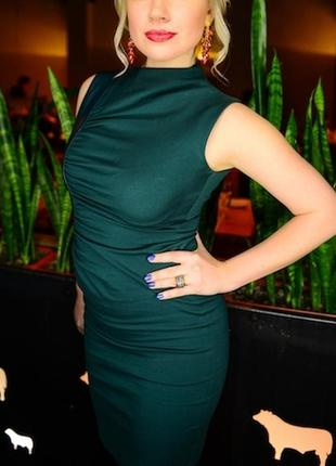 Супер платье с экокожей, размер м
