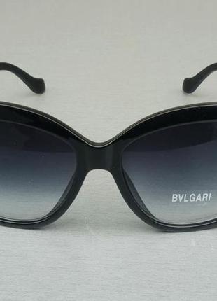 Bvlgari очки женские солнцезащитные большие черные