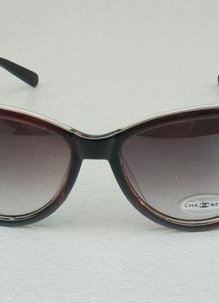 Chanel очки кошечки женские солнцезащитные коричневые