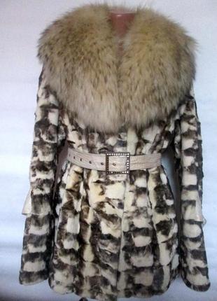 Шуба,шубка полушубок, натуральный мех норка,норковая, енот,48-52 р