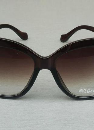 Bvlgari очки женские солнцезащитные коричневые
