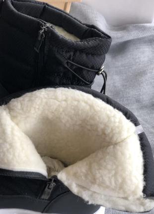 Чёрные зимние женские дутики новые5 фото