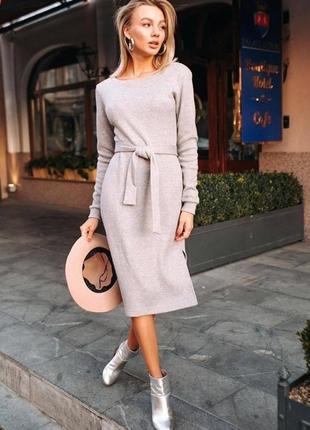 Стильное тёплое платье из ангоры софт