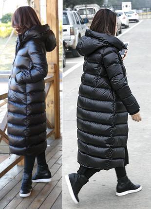 Настоящий теплый зимний пуховик, кокон,  4 размера в наличии