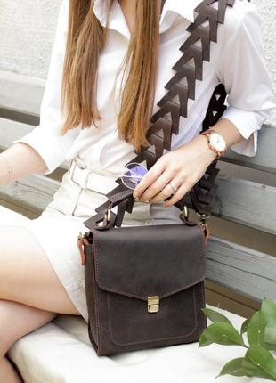 Кожаная сумка, сумочка ручной работы