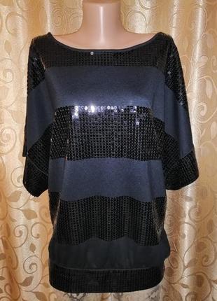 ✨✨✨нарядная женская кофта, джемпер, футболка, блузка расшитая пайеткой be beau🔥🔥🔥