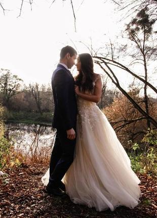 Свадебное платье весілтна сукня xs-s