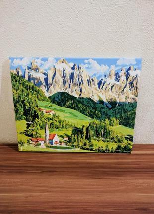 Картина италия, тоскана холст, акриловые краски