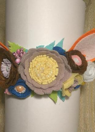 Праздничная повязка на голову ,,лисичка,,