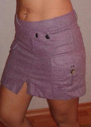 Оригинальная теплая юбка на подкладке