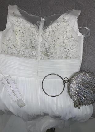 Шикарное свадебное платье в камнях и бисере magic bride