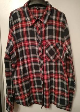 Рубашка в клетку, размер 48-50