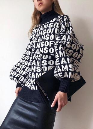 Стильный шикарный свитер пуловер гольф водолазка шерсть премиум от h&m новая коллекция
