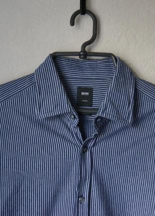Рубашка в синюю полоску hugo boss