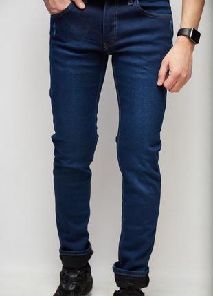 Джинсы мужские утепленные blue nil 6376