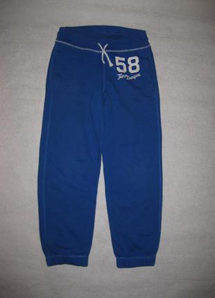 160 рост, яркие спортивные штаны на баечке, синие
