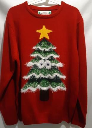 Новогодний свитер джемпер xxl