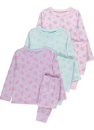 Пижамки george unicorn long sleeve pyjamas на 6-7 лет