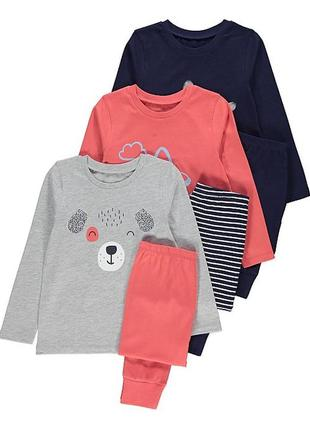 Пижамки george graphic long sleeve pyjamas на 5-6 лет