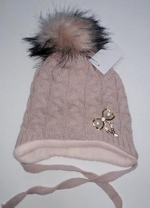 Зимняя шапка на флисе р.52-54
