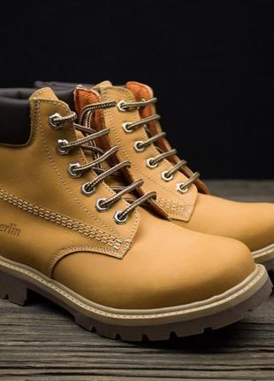 Демисезонные кожаные ботинки 030berlin