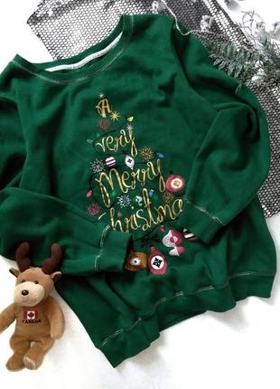Новогодний оверсайз свитшот свитер, блестящий