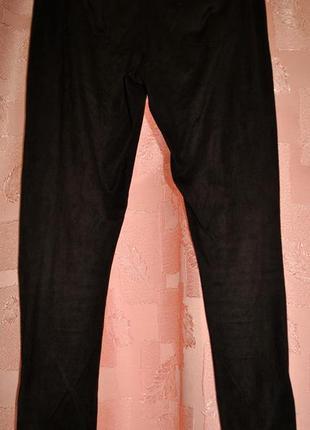Леггинсы лосины из эко-замши коричневые incity р. 46 указаны замеры