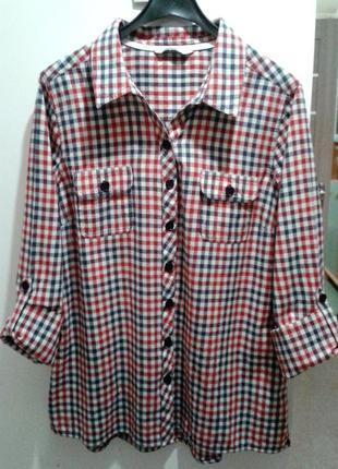 Стильная клетчатая рубашка tu, размер xl