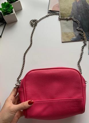 👛прелестная маленькая розовая сумочка/розовая сумка/сумочка на цепочке через плечо👛