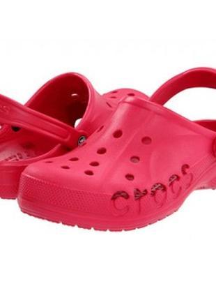 Крокс тапочки сандали crocs модель baya колiр raspberry