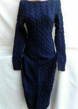Платье вязка коса