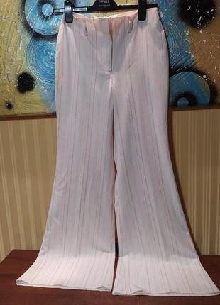 Белые брюки классика в полоску