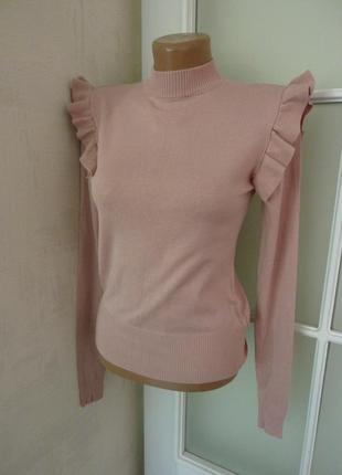Джемпер свитер кофта  женская цвет пудра