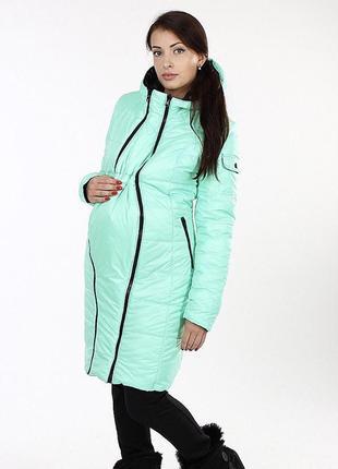 Двухсторонний пуховик пальто для беременных