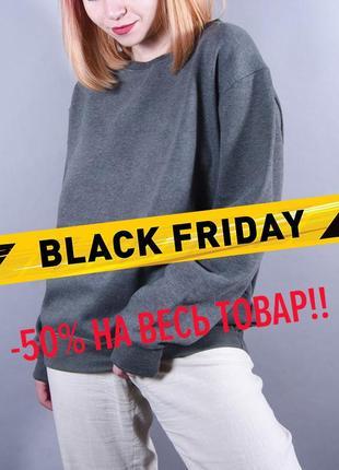 Серый свитшот оверсайз, теплый оливковый пуловер, свободный свитер