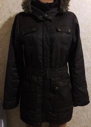 Коричневая утепленная курточка
